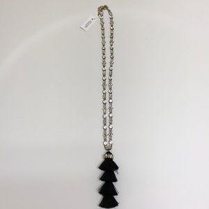 Bauble Bar Black Tassel Necklace